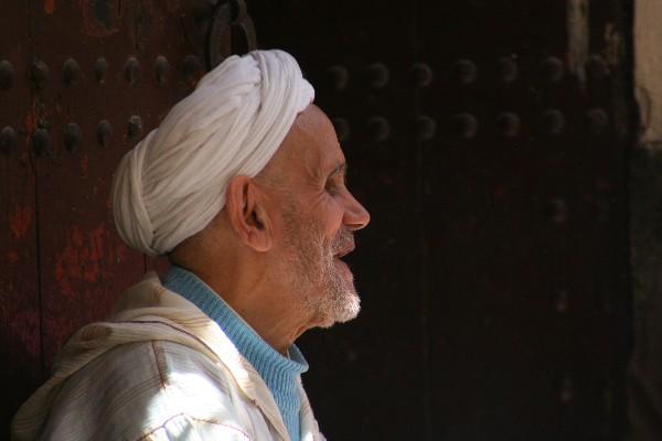 P - Morocco - Blind man, Fes
