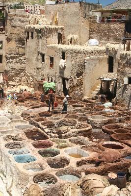 Leather dye vats, Marrakech