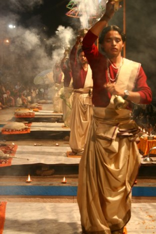 Ceremony to Ganga Ma, Varanasi, India
