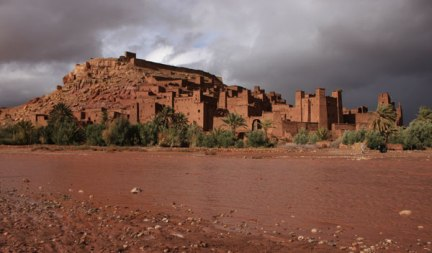 Storm louds over Ait Ben Haddou
