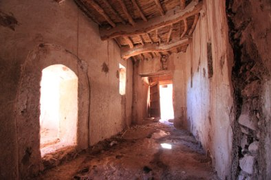 Inside the deserted section of Ksour Ait Ben haddou