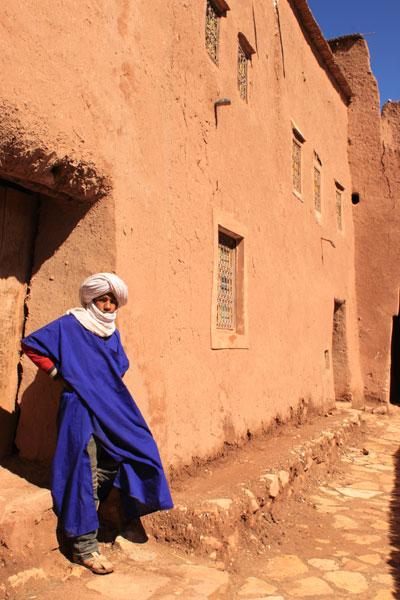 Deep inside Ait ben Haddou, Morocco