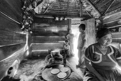 Wishing for supper, Maya families, Belize