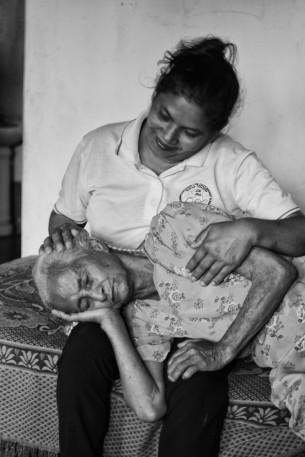 A comforting caregiver