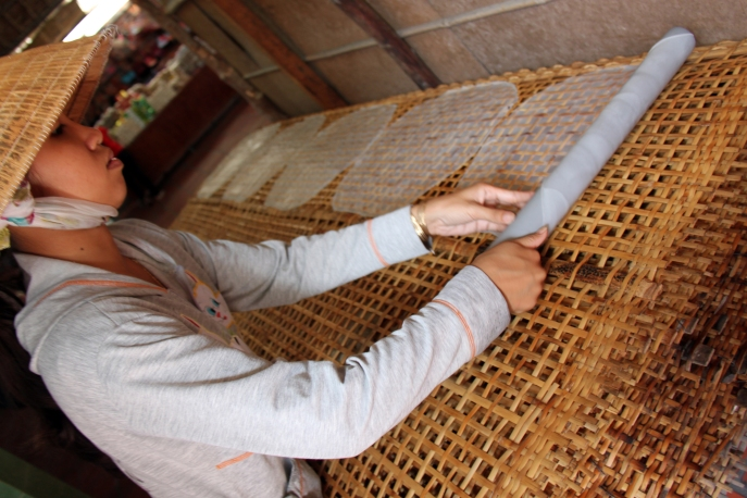 Rice paper making Cai Be