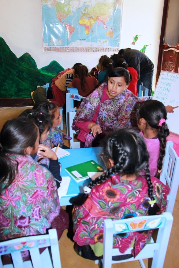 Teaching the young Maya girls numerology