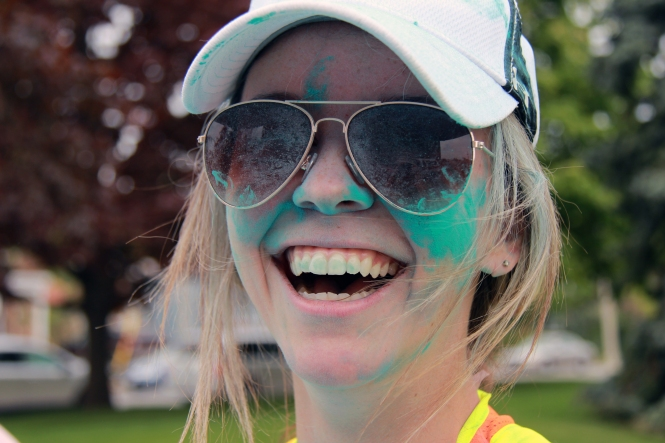 Stephanie MacDonald: Green cheeks & green teeth! Great smile!