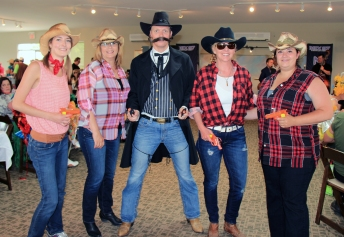 Gunslinger Ryan Williams with Alycia Wright, Nancy Troke, Sharon Shortt-Kerr, & Amy Sarginson