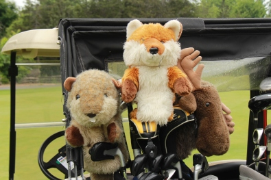 Cuddly golf club covers - Billy Beaver, Frances Fox, & Matthew Moose