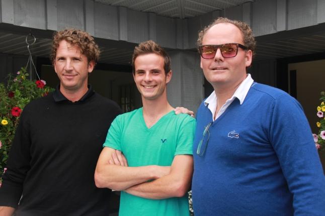 Greg Knudsen & Sam Brady with Chad Baker, CAS Graduate Superstar