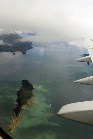 Almost looks like the Caribbean....departure from Juneau