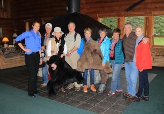 Jill K., Charlie, Lola, Jeff, Liz, Debra, Mattee, Howard, & Louise, Bear Track Inn, Gustavus