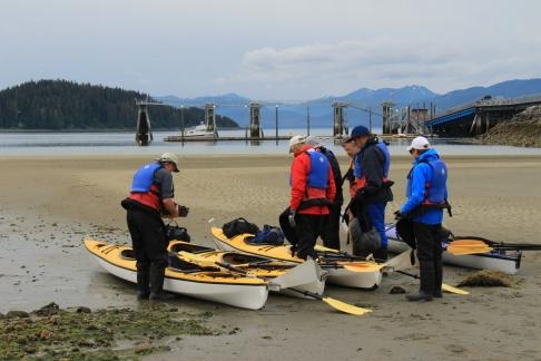 Icy Strait Kayaking with Spirit Walker - Jeff, Charlie, Debbie, Gary, Colin, & Liz