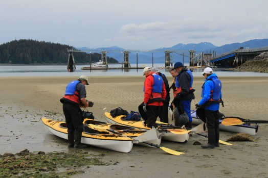 Icy Strait Kayaking with Spirit Walker - Jeff, Charlie, Debbie, Gary, Colin, & Liz