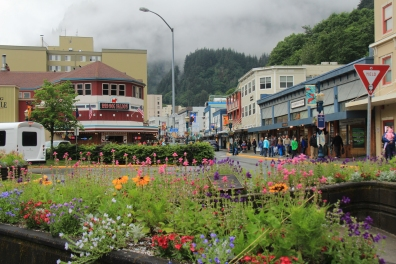 Downtown Juneau & the new Red Dog Saloon