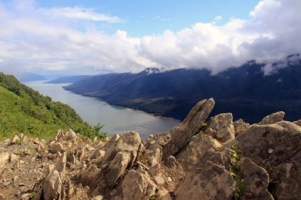 Gastineau Channel viewed from Mt. Roberts, Juneau