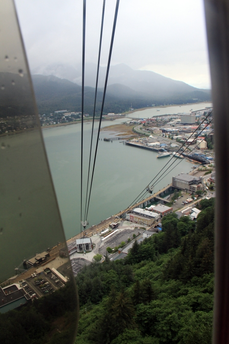 Downtown Juneau & Gastineau Channel viewed from the tram