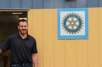 Belleville Rotary President Kelly McKinney at YMCAs Rotary Learning Centre