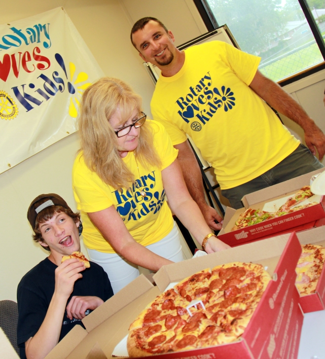 Rotarian Colin Leaver at Quinte Children's Foundation RLK Kids Pizza party