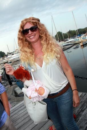 Ben Affleck's nanny with the kids aka Anya-Deane Best
