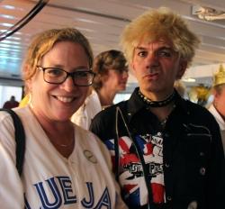 Blue Jay Fan with Johnny Rotten aka Richard Floyd