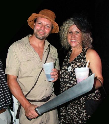 Indiana Jones aka Diego Bianchi with Alba Siciliani