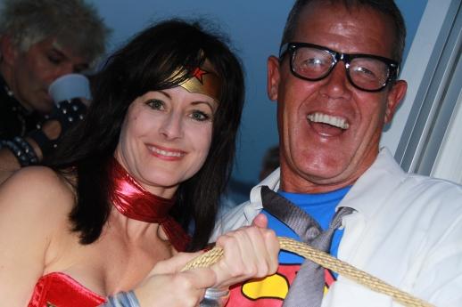 Wonder Woman aka Christine Bennett ropes Superman aka Bruce Bell