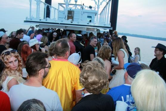 Having fun on board the Island Queen