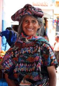Antigua, Guatemala - beggar woman with bad teeth, Almacen Troccoli