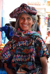 Antigua, Guatemala - beggar woman with bad teeth, Almacen Troccoli