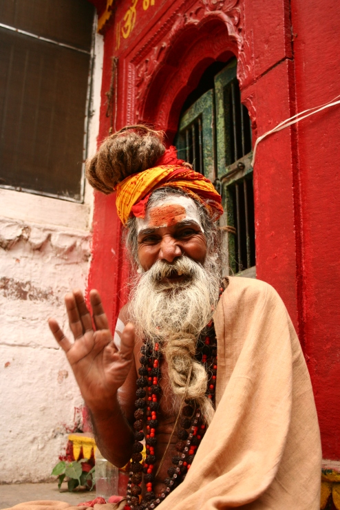 Friendly Saddhu, Kashi/Varanasi, India