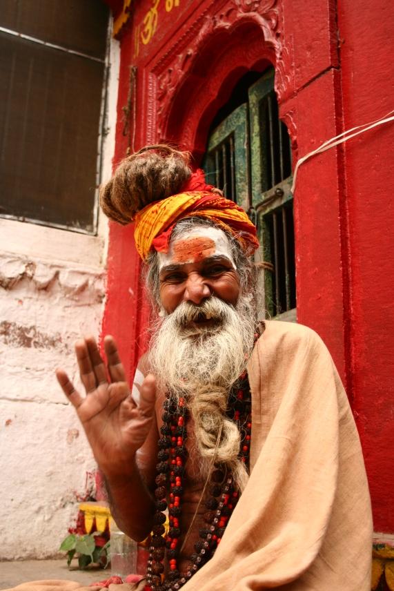 Friendly Saddhu, Kashi/Varanasi, India