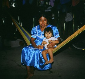 Grandmother and child, Belize