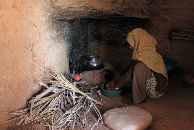 Khadija making lunch for we weary travelers