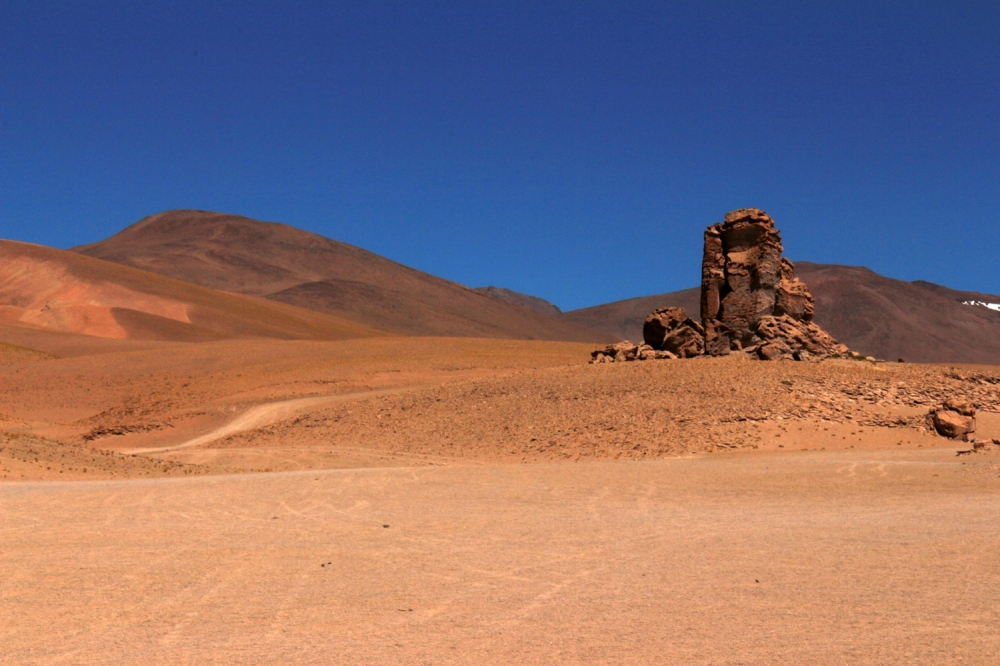 Salar de Tara -dunes & eroded rock FB