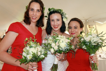 Tegan with her bridesmaids Bernadette & Stephanie
