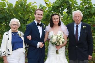 Grandma Marian Allin, Jim & Tegan, Grandpa Drew Allin