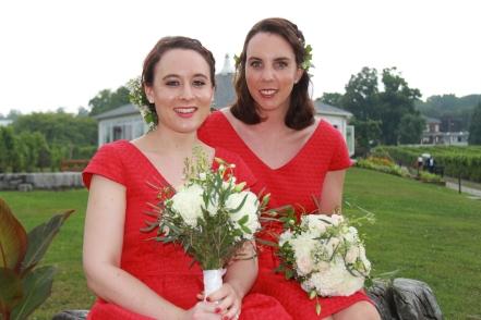 Maid of Honour Stephanie & Bridesmaid Bernadette