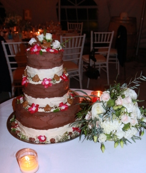 The wedding cake crated by Steve Zuccala & Leslie Allin