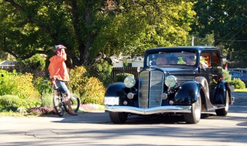 Some cycled and some drove classic cars