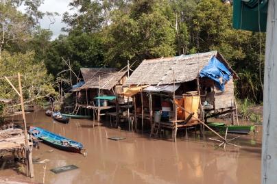 Riverine village, Sekonyer River