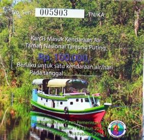 Permit to enter Tanjung Puting National Park