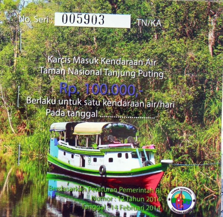 Permit to enter Tanjung Puting National Park