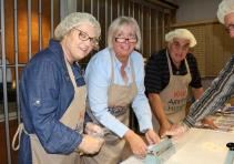 Rotarians Karen Baker, Birgit Wartenberg, Brian Bentley