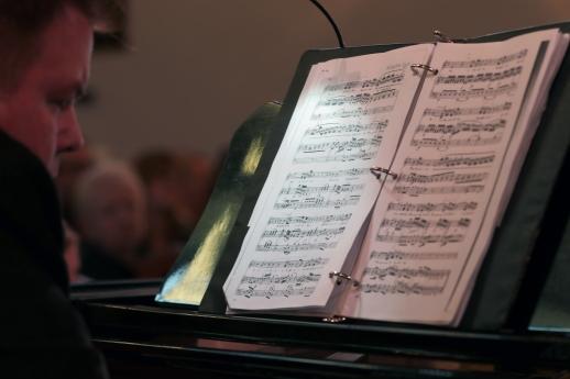 Michael Faulkner at the piano