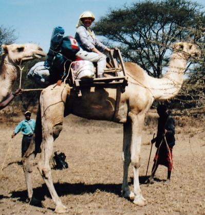 Lola on Mrefu, 5-day camel safari