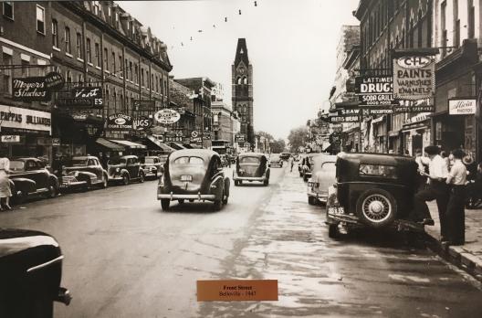 Front Street, Belleville, looking south toward Brdige Street East & City Hall