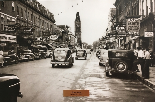 Front Street, Belleville, looking south toward Brdige Street East & City Hall