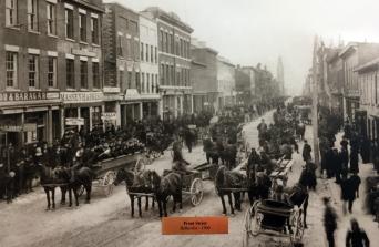 Front Street, Belleville - east side blocks between Victoria & Bridge