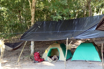 My tent, backpack, & hammock